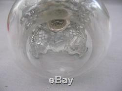 A superb Large Scent/Perfume Bottle Glass & Sterling Silver 1900 Victorian