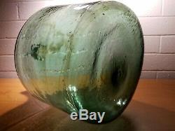 Antique 1800's Hand Blown Large Glass Wine Bottle Carboy/Demijohn Applied Top