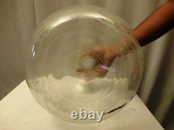 Antique Carboys And Demijohns French Glass Large Wine Bottle Flask Clear Rare3