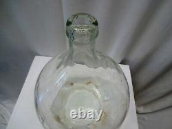 Antique Carboys And Demijohns French Glass Large Wine Bottle Flask Clear Rare 1