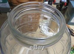 Antique Glass Large Clear Glass Root Beer Barrel Jar 13 Tall Barn Find