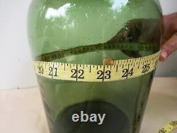 Antique Glass Olive Oil Bottle Green Large Dutch Wonderful Collectibles Rare F