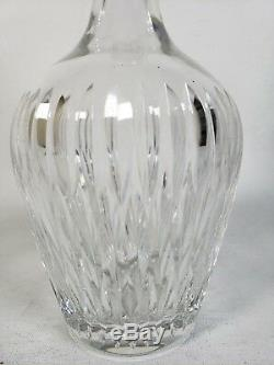 Antique Sterling Silver Hawkes Cut Crystal Large Glass Bottle Decanter