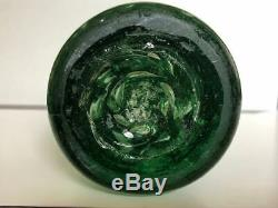 Antique Very Large Victorian Bottle Glass Controlled Bubble Paperweight