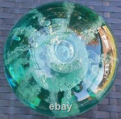 Antique Victorian Solid Glass Bottle Dump Glass Paperweight Large Heavy Unusual