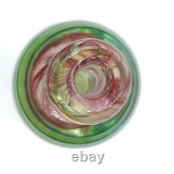 Beautiful Large Murano Green, Blue & Cranberry Swirl Sommerso Perfume Bottle