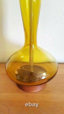 Blenko lamp Genie Bottle # 5815 by Wayne Husted Large size Stunning colo