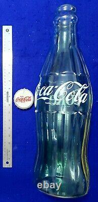 EXCELLENT 1950-60s COCA-COLA COKE LARGE 20 GLASS DISPLAY BOTTLE WITH CAP