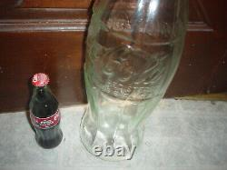 Extra Large 20 Coca Cola Store Display Advertising Heavy Thick Glass Bottle