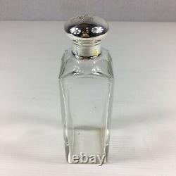 Fine Antique 1920 Solid Silver Topped Large Cut Glass Scent Bottle 15.5cm High