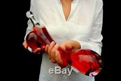 For Adults Only, Handmade Large Penis Shape Glass Bottle, Limited edition