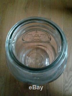 Giant 4 Gallons MASON BALL IDEAL CANNING JAR Glass Eagle Liner Lid Large gallon