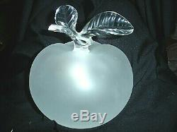 Gorgeous Lalique frosted crystal Grand Pomme (Apple) large perfume bottle