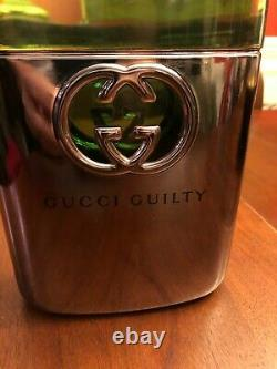 Gucci Guilty Giant Glass Perfume Bottle STORE DISPLAY FACTICE DUMMY 12 in Large