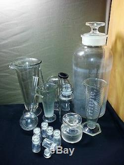 HUGE Large Antique Blown Glass Apothecary Jar/Bottle 18 TALL! WithLid Pharmacy