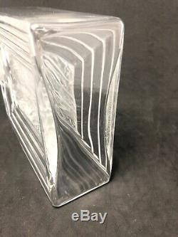 LALIQUE CRYSTAL Clear & Frosted Duncan Flacon #2 Large Perfume Bottle 11Z