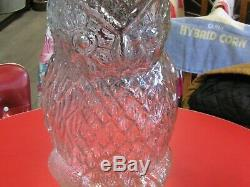 LARGE GLASS WISE OLD OWL JAR WithLID