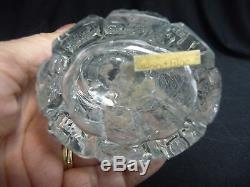 LARGE VINTAGE (1930's) CUT CRYSTAL CZECH PERFUME BOTTLE & STOPPER withDAUBER