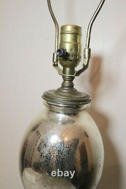 LARGE rare antique glass two chamber murcery glass seltzer siphon bottle lamp