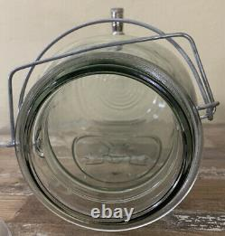 Large 3.5 qt BALL IDEAL Eagle Dispenser Jar Glass With Lid Wire glass top