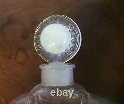 Large Antique Art Deco French Crystal Glass Factice Perfume Bottle Store Display