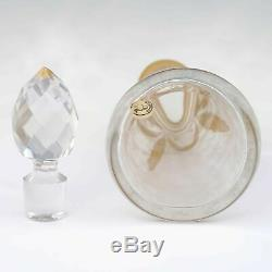 Large Antique French Saint Louis Acid Etched Cameo Glass Perfume Bottle