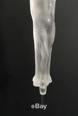 Large Antique Glass Stopper Nude Lady 101/2 for Perfume Bottle Art Deco