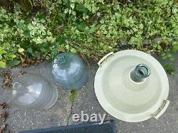 Large Carboy DemiJohn clear Glass Wine Bottle Jug 54l plus 2 x5 gal Used
