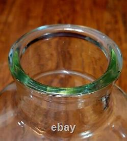 Large Glass Carboy WIDE MOUTH 14 Inches Tall Vintage Glass
