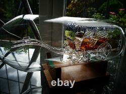 Large Glass Horse Carriage In Bottle Top Quality as Carriage is Also Glass