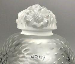 Large Lalique Frosted Flacon Perfume Bottle 5 1/2'