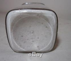 Large antique 1800's reverse painted label glass apothecary medical bottle jar