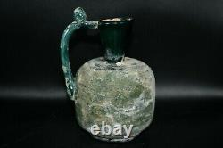 Lot Sale 7 Ancient Roman Glass Bottles and Jug Large and Medium Sized Restored
