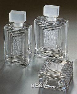 MINT Crystal Lalique Duncan #3 Perfume Bottle7 3/4 TallLARGERetail $1140.00