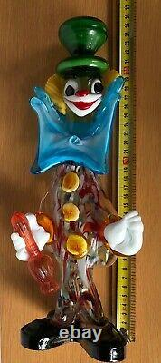 MURANO Large 35cm Clown with bottle RARE