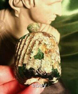 Museum Grade Time Of Christ Jesus, Large Roman Glass Bottle Date 100 Bc-30 Ad