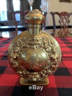 One Of A Kind Rare & Large Gilt Sterling Perfume Bottle Kerr Demon Fantasy
