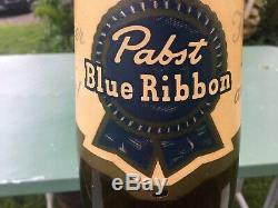 Pabst Blue Ribbon glass bottle Store Display Rare Large vintage novelty 30 tall