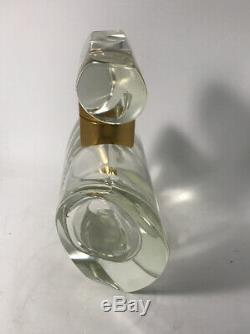 Poeme Lancome Large Glass Perfume Bottle Display Fatice 8.25 High EMPTY