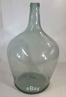 Pottery Barn Found Glass Oversized Wine Bottle, Large, Central European NEW