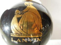 Rare Large Vintage Lanvin Glass Factice Store Display Glass Bottle 10 tall