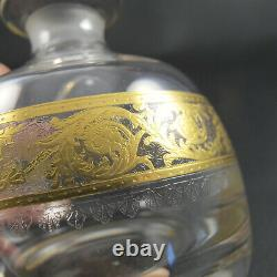 THISTLE by ST LOUIS Crystal 4 Large Perfume or Cologne Bottle