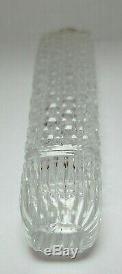 Tiffany & Co. Sterling Silver & Abp Cut Glass Large Lay Down Perfume Bottle