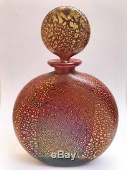 Very Rare Isle of Wight Studio Glass Large Firecracker Perfume Bottle 1985-86