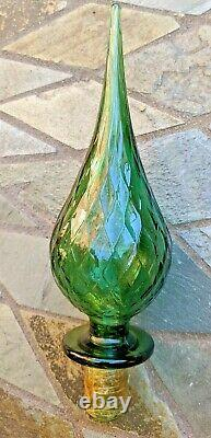 Vintage 1960's Large Tall 26 Green Genie Bottle Toscany Italy Very Cool