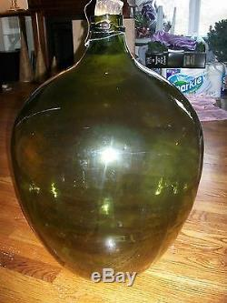 Vintage Large 60 Liter Glass Bottle Tint of Brown Extremely RARE HTF