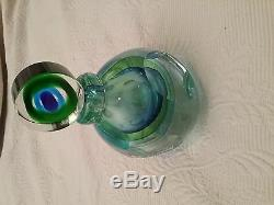 Vintage Murano Italy Sommerso Large Perfume Bottle