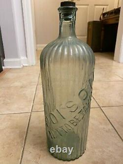 Vintage Poison Clear Glass Bottle Poison Not To Be Taken Medical Large Tall 15