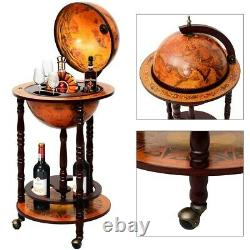 Wine Liquor Bottles and Glass Cups Holder Wooden Stand Rack Display Bar Wood